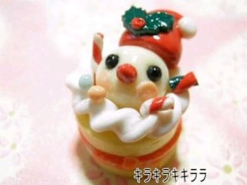 《New》クリスマスケーキ<樹脂粘土>★小鳥サンタver