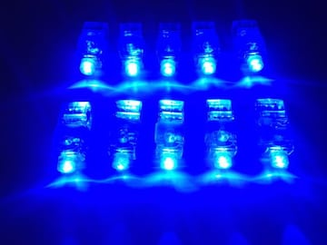 フィンガーライト LED 新品 10個 光る ランプ ブルー青