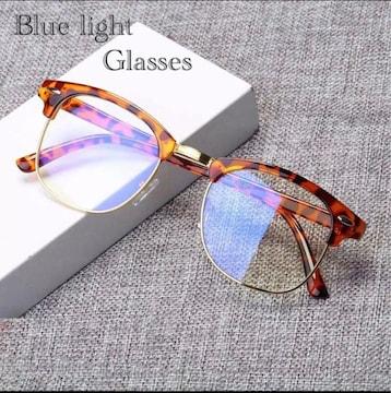 サーモント メガネ べっ甲柄 ブルーライトメガネ  PCメガネ