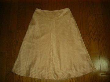 キャサリンロス 透かし模様っぽいキャメル色のフレアースカート