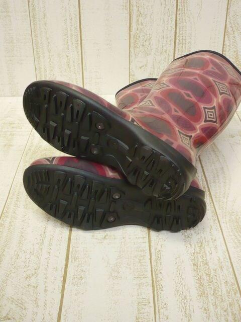 即決☆カミック TULIPE レインブーツ RED/25cm カナダ製 長靴 < 女性ファッションの