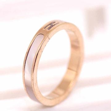 指輪 18K RGP ゴールド 貝殻石 リング gu1392e