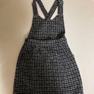 PAGEBOY  フリーサイズ  サロペット スカート  ニット
