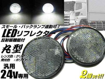 24v用/LED内蔵リフレクター/白色ホワイト クリアレンズ/連動機能