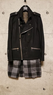 新品Roenロエン  SOFT CHECK LONG P-COAT 48