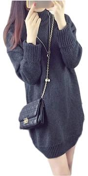 ニットワンピ ニットワンピース セーター リブ DG