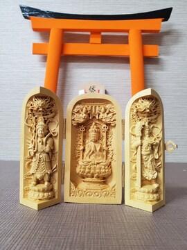 彫刻 木彫り 扉 風水 置物 木製 菩薩 仏様 千手観音