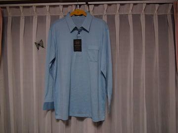 BOB GALETのポロシャツ(3L)薄いブルー新品タグ付き!。