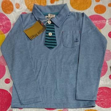 120サイズ ロングTシャツ長袖Blue Mart イカリ柄ネクタイ柄