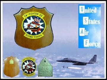 新品 レア エアフォース 空軍 正規品 手作り ミリタリープラック