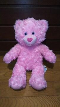 ビルドアベアピンク色テディベアくまクマぬいぐるみBuild A Bear Work Shop
