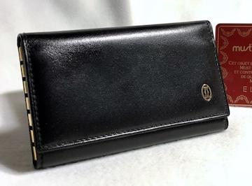 正規美 Cartierカルティエ パシャ 6連キーケース 黒×ゴールド キーホルダー 6連フック