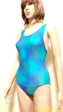 アシックス☆光沢つる�Aグラデカラーの競泳水着5248☆3点で即落