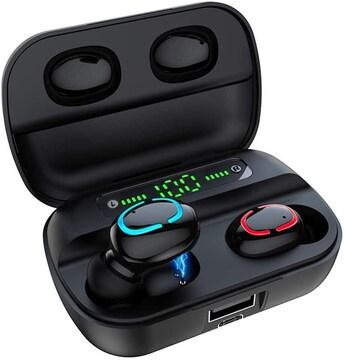 Bluetooth イヤホン LEDディスプレイ