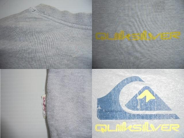 QUIKSILVER スウェットシャツトレーナー綿100%クラックプリントM < ブランドの