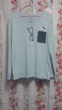 ☆ミッキー&ミニー☆胸ポケット付☆長袖Tシャツ☆LLサイズ☆試着のみ☆