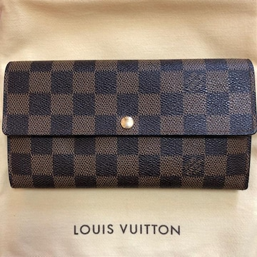 LOUIS VUITTON LV ルイ ヴィトン ダミエ エベヌ ポルトフォイユ 長財布 N61734