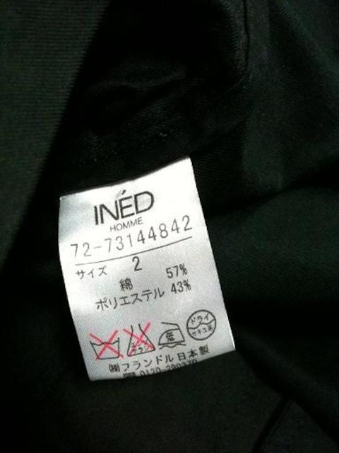 美品INED HOMME  ボタンジャケット 日本製 イネド < ブランドの