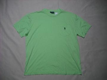 01 男 POLO RALPH LAUREN ラルフローレン 緑 半袖Tシャツ M