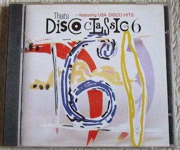 ザッツ ディスコ クラシック VOL6 70s 80sディスコ ハイエナジー