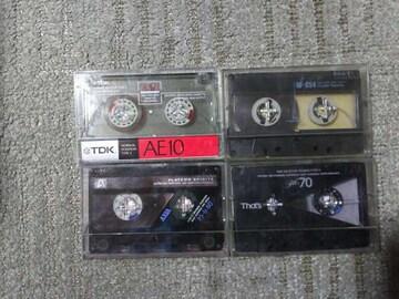 録音使用済カセットテープ TDK10 ソニー54 アクシア60 That's70 ノーマルポジション