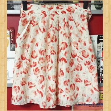 購入20000円 prideglide プライドグライド 花柄スカート 36 オンワード