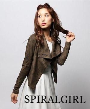 定価8,100円【新品】SPIRALGIRL●レザーライクカットジャケット