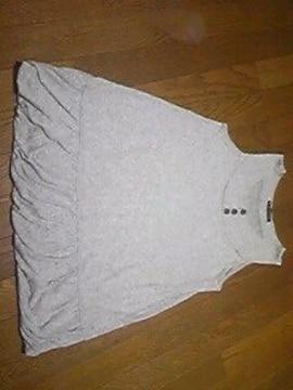 FORTUNE COOKIES/Tシャツ/ノースリーブ/灰色/M