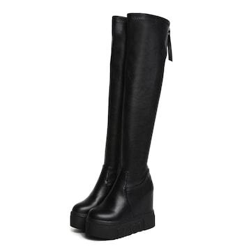 TK199即決 新品 厚底 ブーツ 黒 23.5 エスペランサ ダイアナ R&E 好きに