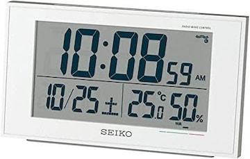 セイコークロック 置き時計 01:白パール 本体サイズ:8.514.85.3c