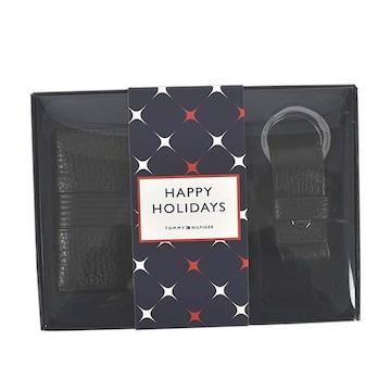 ◆新品本物◆トミーヒルフィガー 2つ折財布&キーリングセット(BK)『AM0AM06719』