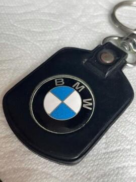 ノベルティ BMW レザーキーホルダー 非売品 昭和レトログッズ