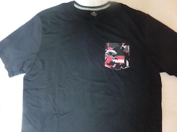 レアもの【NIKE JORDAN BRAND】ポケット付TシャツUS XL黒