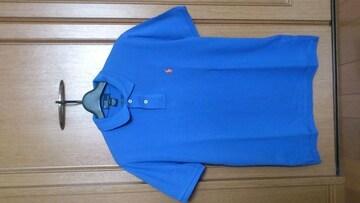 激安80%オフPolo、ラルフローレン、ポロシャツ(新品タグ、青、L位)