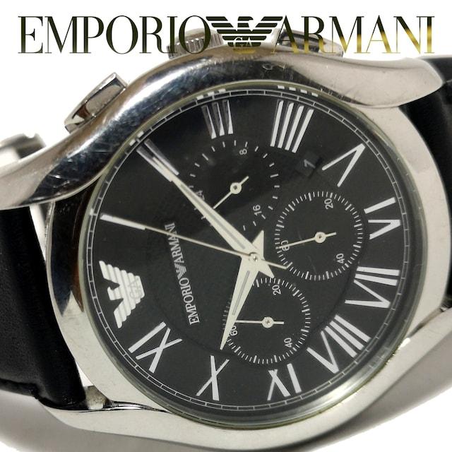 良品 1スタ★エンポリオアルマーニ【クロノ】大型 腕時計