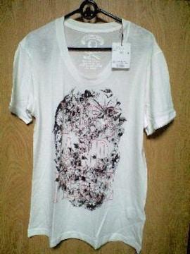 新品ROENロエン LOVE AND PEACEフラワースカルTシャツ 48