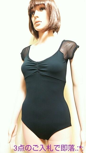 極美品☆チャコット☆背魅せ袖透かしレオタード3969☆3点で即落  < ブランドの