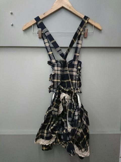 Ank Rouge☆チェック柄サロペットスカート < ブランドの