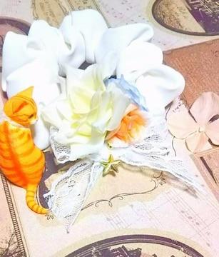 ハンドメイド*・゚星とroseの、ブーケシュシュ☆+゚sweet Flower/薔薇