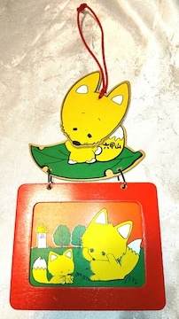 昭和レトロ きつね フォトフレーム 壁飾り キツネ 狐 ファンシー
