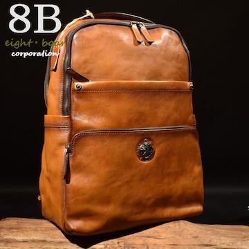 ◆本革 あぶり コンチョ バックパック ビジネスリュック◆茶k33