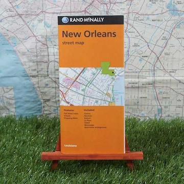新品【輸入地図】ニューオーリンズ Street Map -Rand McNally-