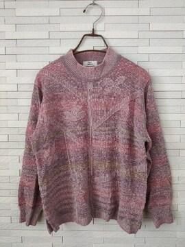 美品/MODE DONALLE/婦人服/ハイネックニットセーター/ピンク/M-L