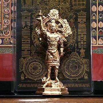 毘沙門天(多聞天) 仏像 銅製 10.8cm