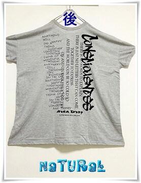 新作★大きいサイズ〜6L カッコイィ バックロゴBigTシャツワンピ*灰