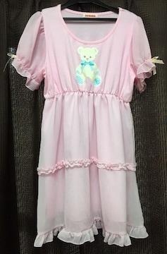 スイマー☆くま ピンク フェアリーシフォン ワンピ