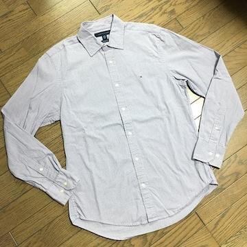 美品TOMMY HILFIGER ストライプシャツ パープル トミー