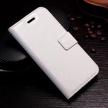 iPhone7 8 手帳型ケース レザー フォトフレーム フィルム 白