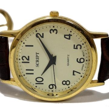 美品【980円〜】SCRIPT/スクリプ【日本製】メンズ腕時計