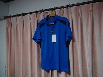 ASのポロシャツ(LL)ブルー&ブラック新品タグ付き袋入り!。